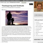 Thanksgiving and Gratitude – One Year Later!