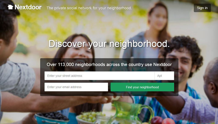 Image Nextdoor Sign Up Page